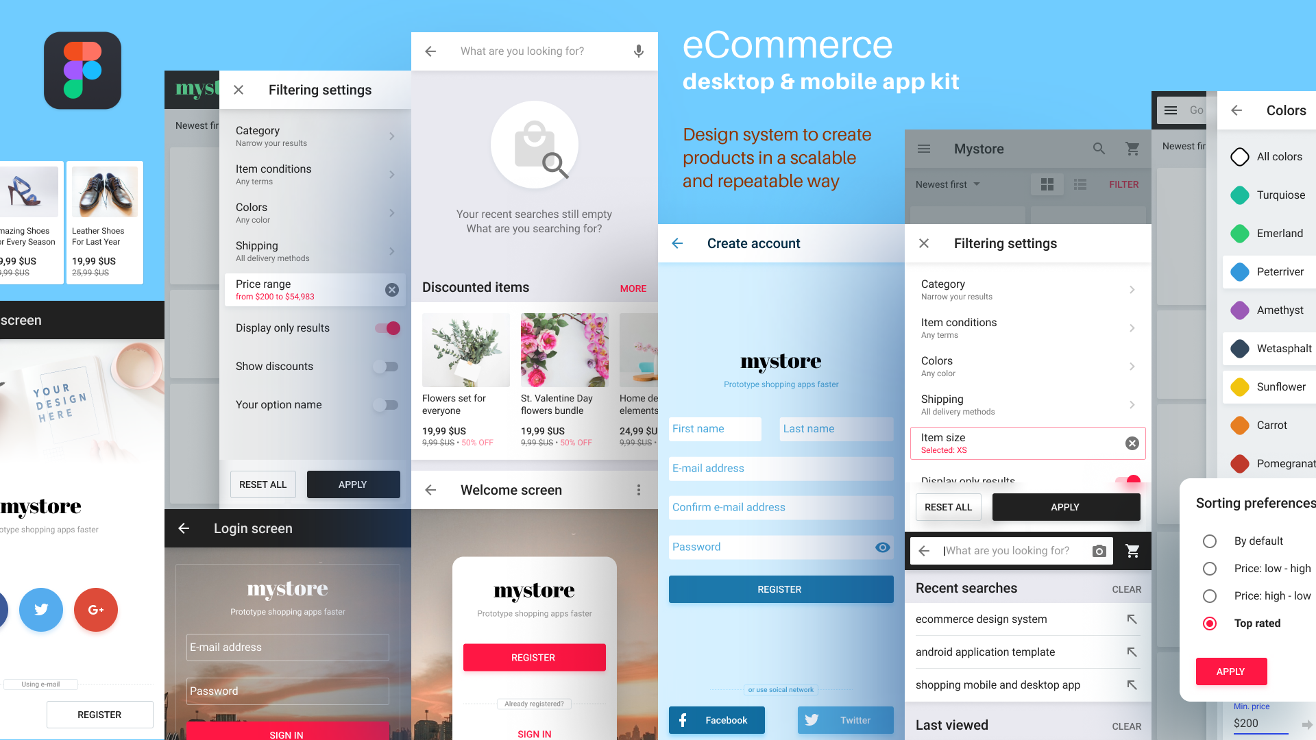 Ecommerce Material App Template Mobile And Desktop Apps
