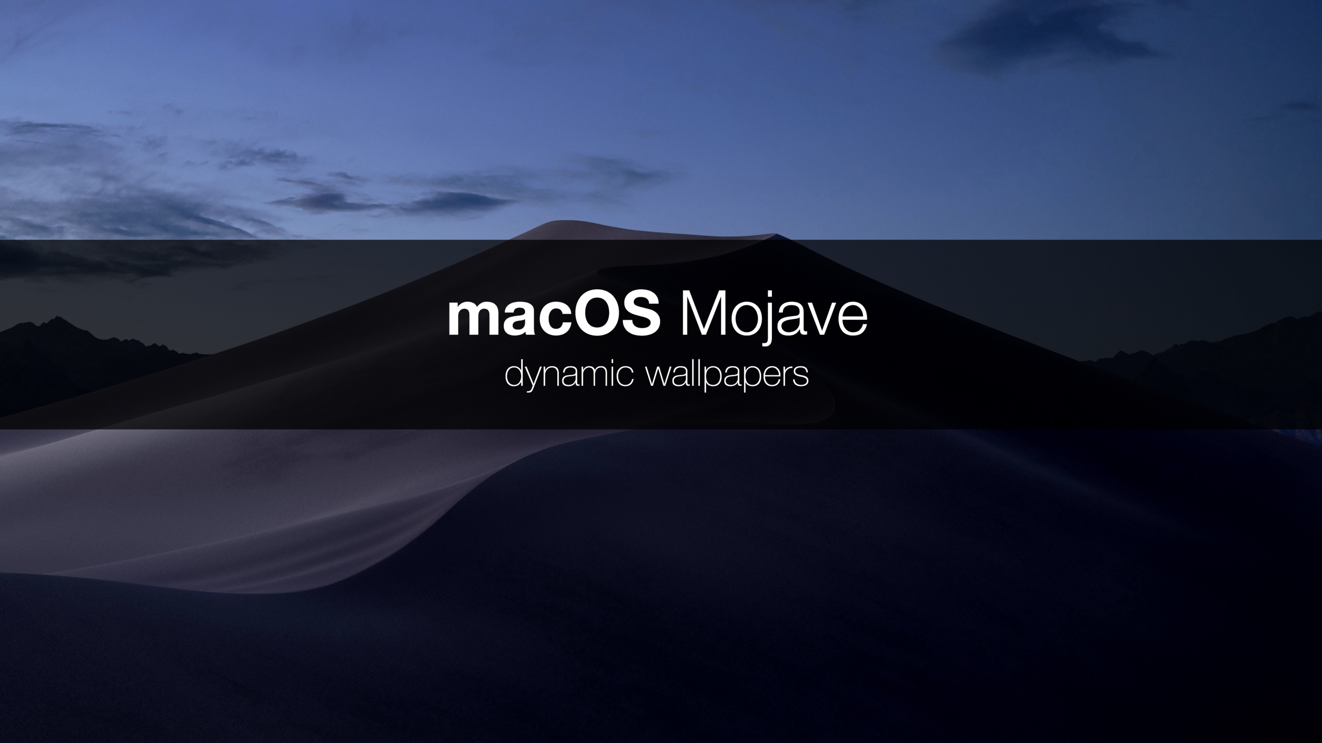 How Apple built dynamic wallpapers? And is it possible to create your own dynamic wallpaper for macOS? I spent some time because I would like to answer to ...