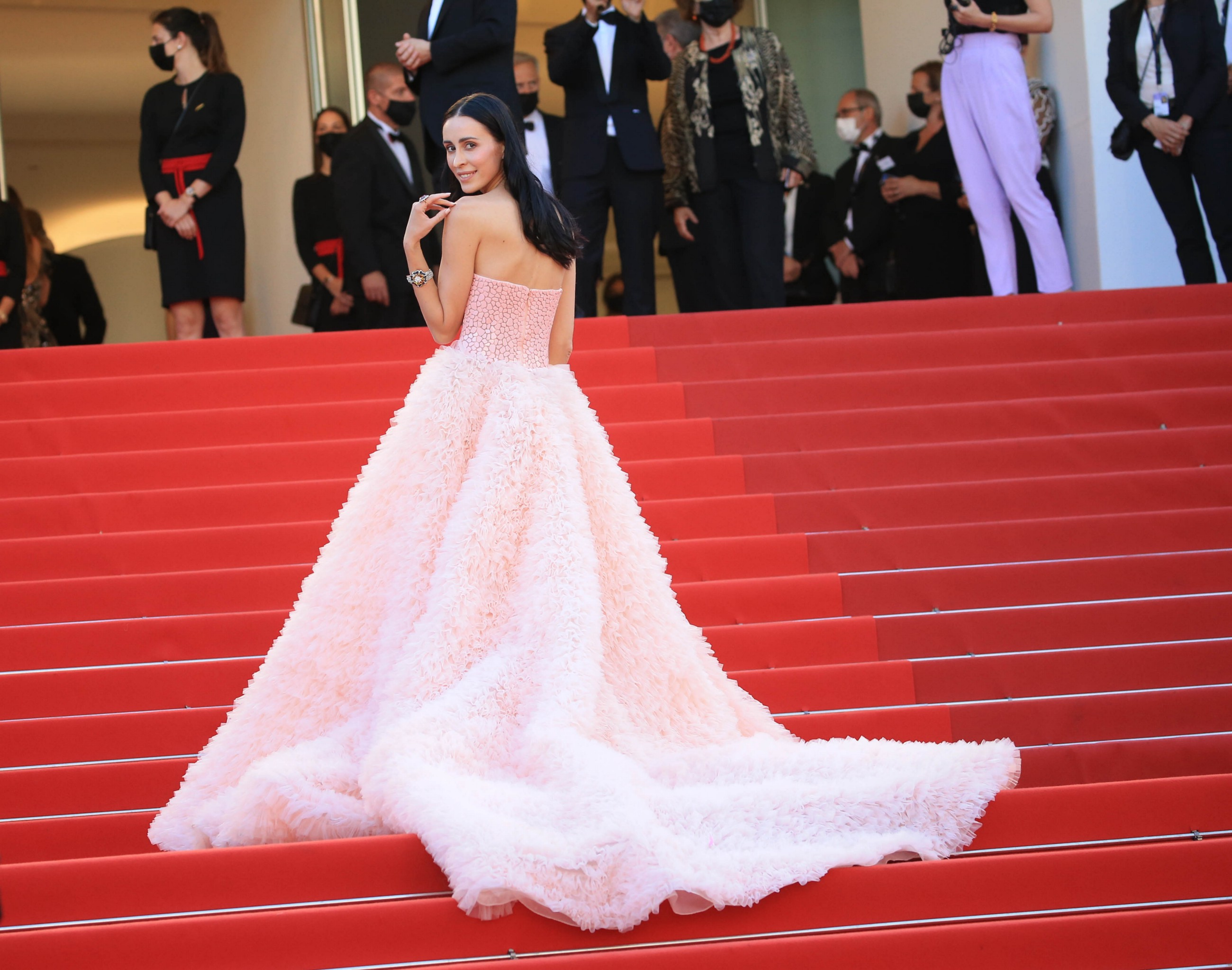 Elvira Jain mezmerize the Cannes Film Festival red carpet, during the Benedetta screening, with an…