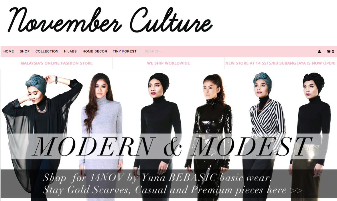 b168979e ... who is growing in popularity in the US and throughout the world, Yuna  Zarari, November Culture is a startup in the growing modest clothing and  fashion ...