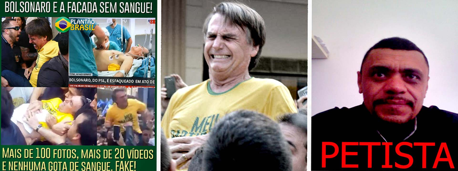 From left to right image created by plantão brasil and circulated on social media claiming the attack on bolsonaro was fake archived on september 13