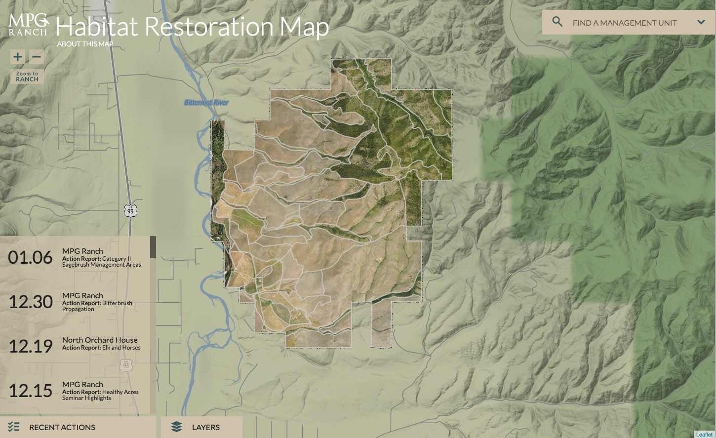 Tracking habitat restoration in western Montana with maps and data ...