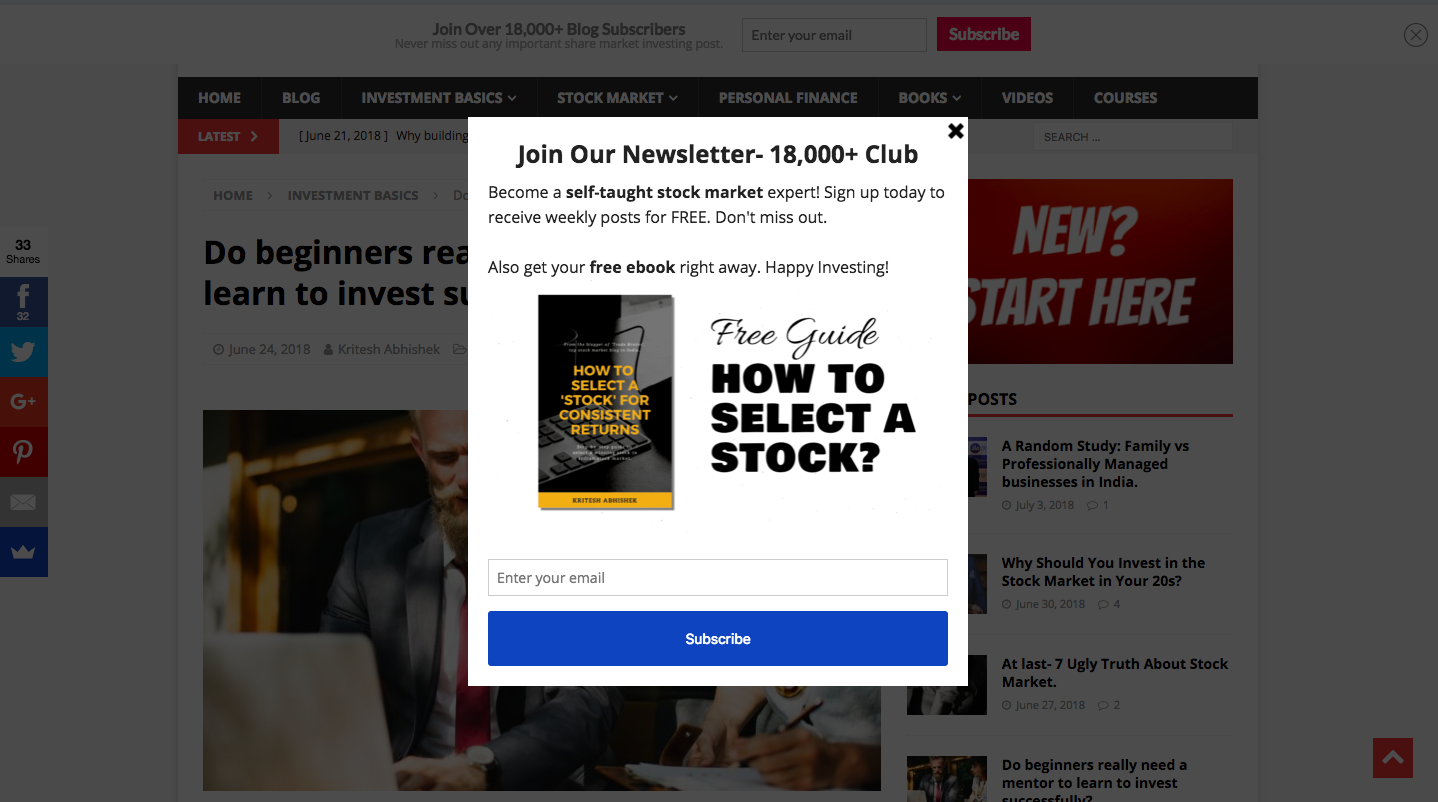 How I Build an Email List of 18,000+ Subscribers Within 13 5 Months