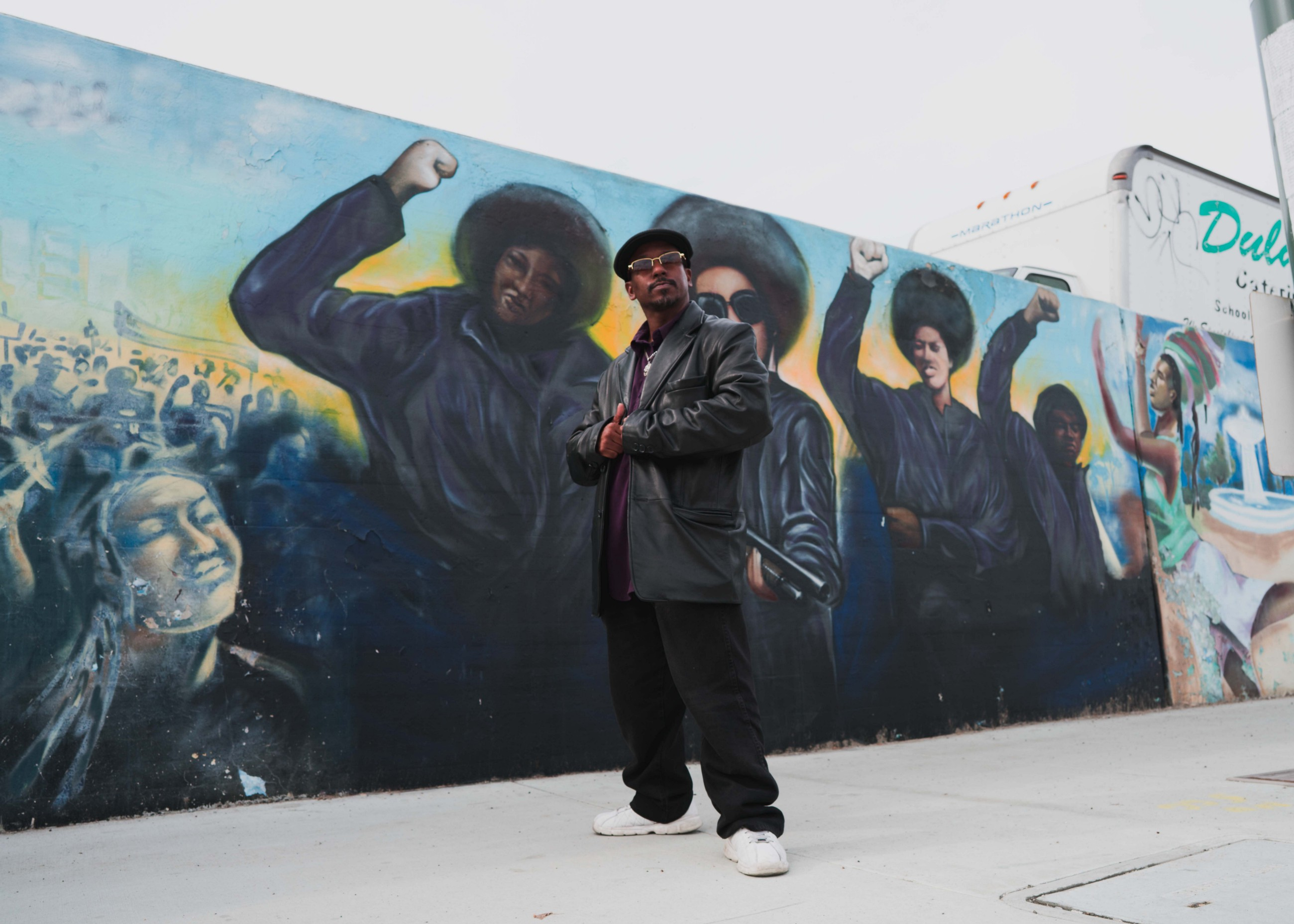 Artist of black panther mural speaks on significance of black art to south central community