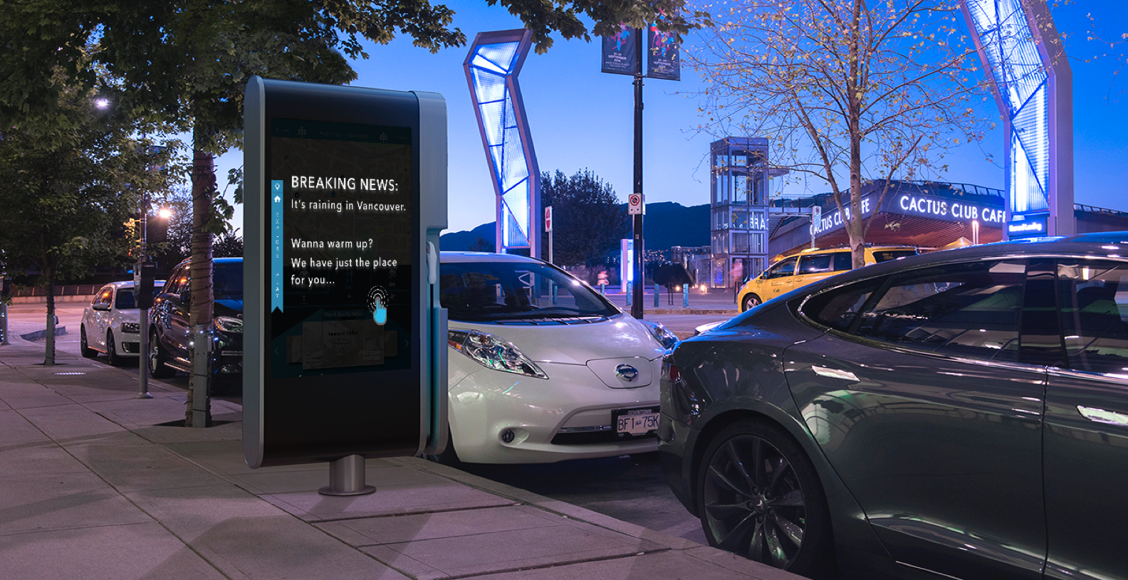 Recharged Interactive Interface For An Electric Vehicle Charging Station