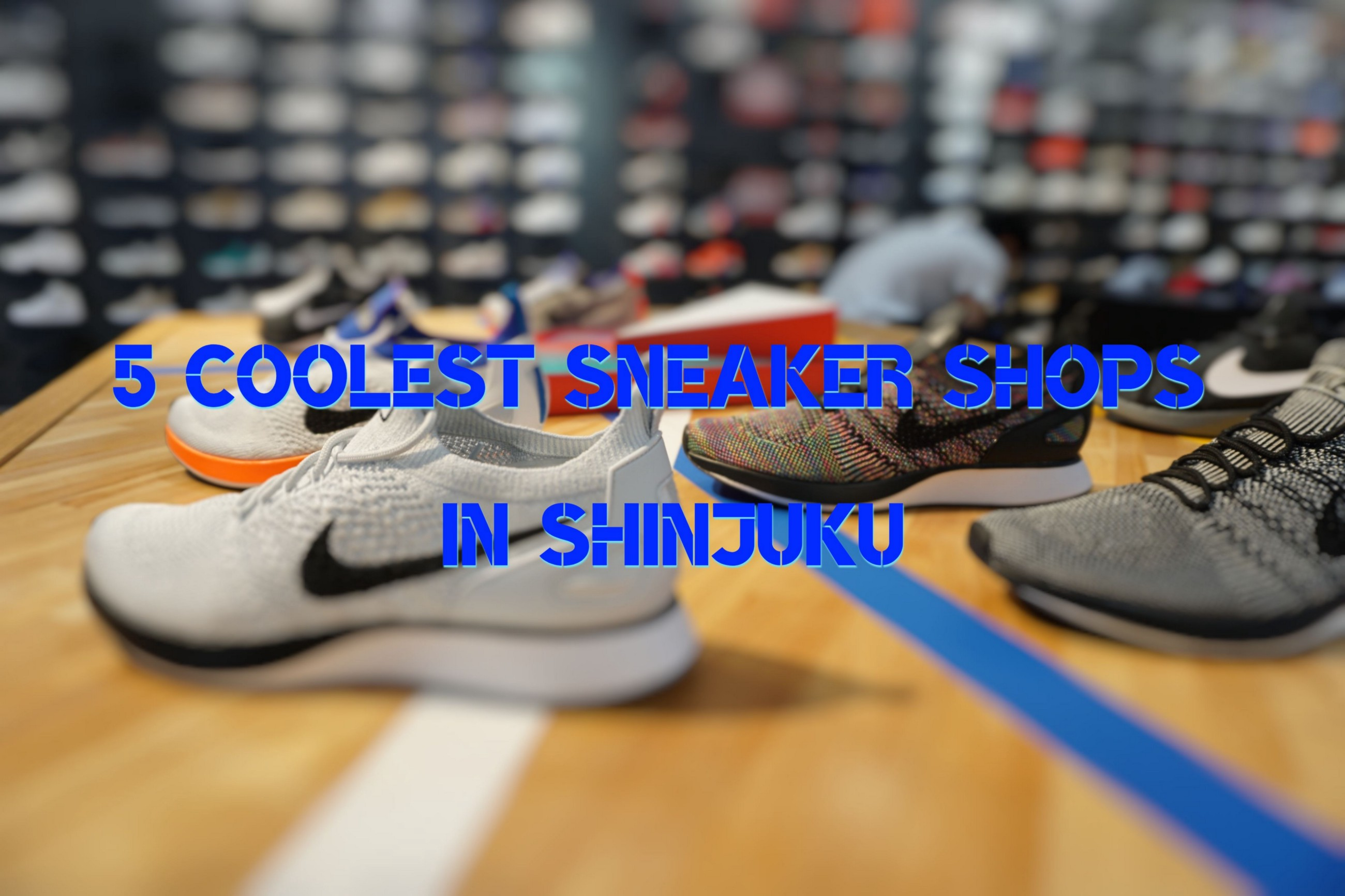 sneakers for cheap 907e4 e07b3 5 Coolest Sneaker Shops in Shinjuku – Japan Travel Guide -JW Web Magazine