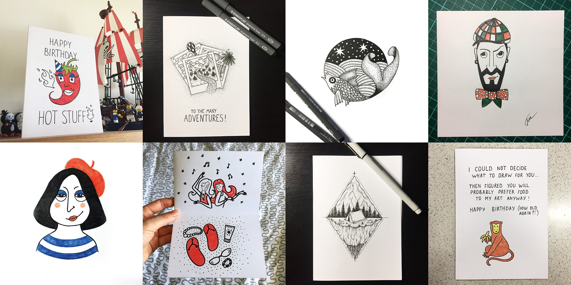 How Sending Hand Drawn Birthday Cards Made Me A Better Designer And Friend