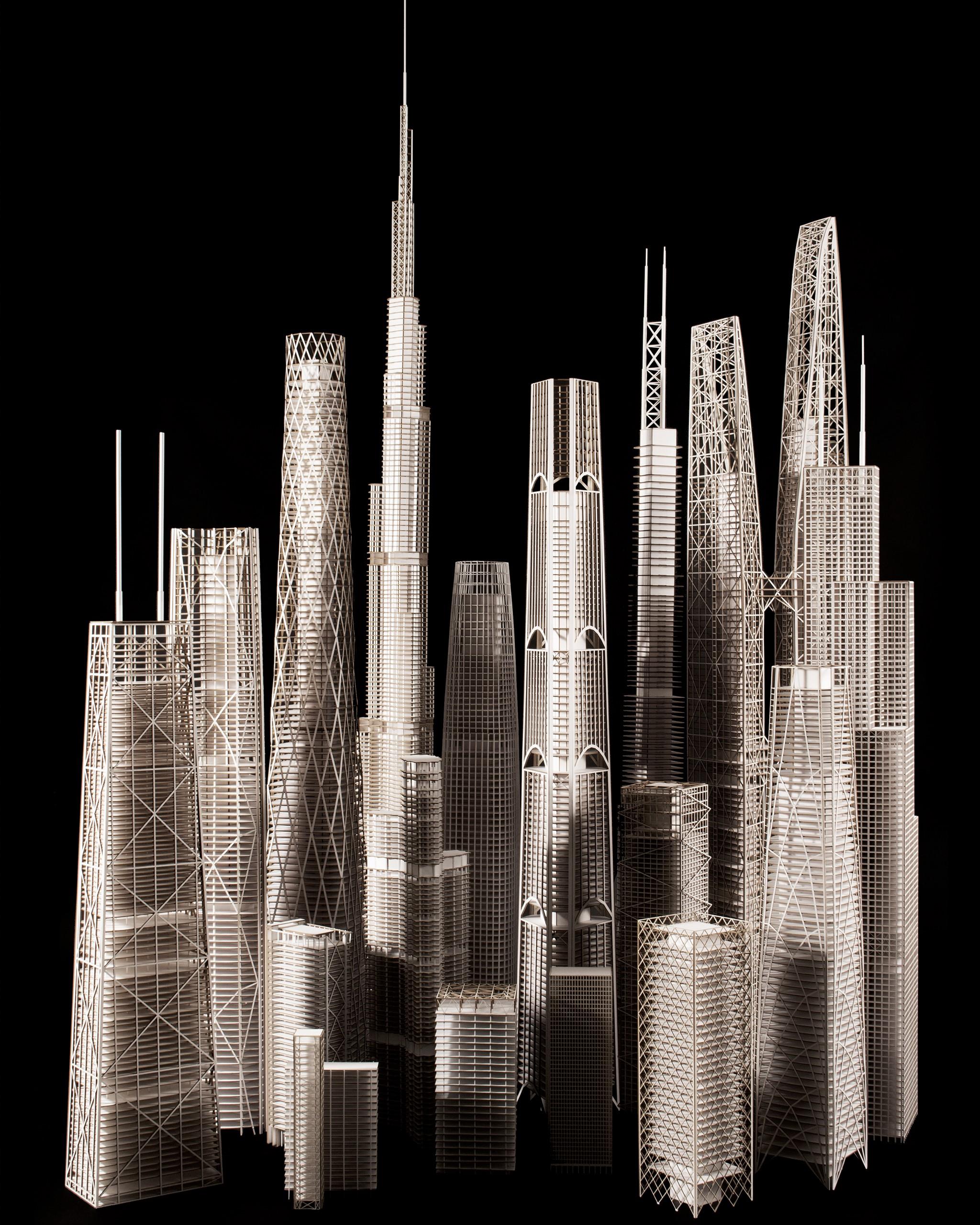 Engineering Architecture: 20 Models Reveal How Skyscrapers Work