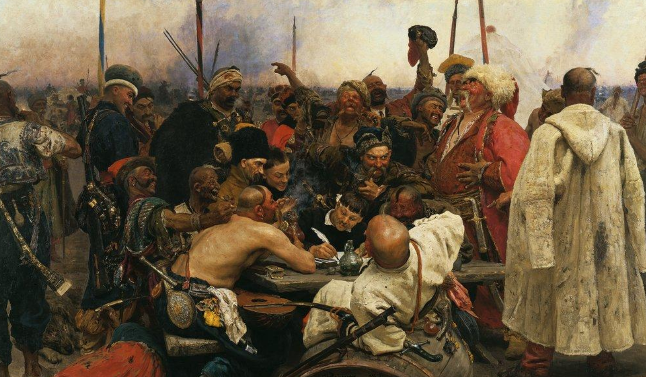 Ukrainian warriors *Cossacks are using collective mind to brainstorm 👌perfect email reply to Sultan*