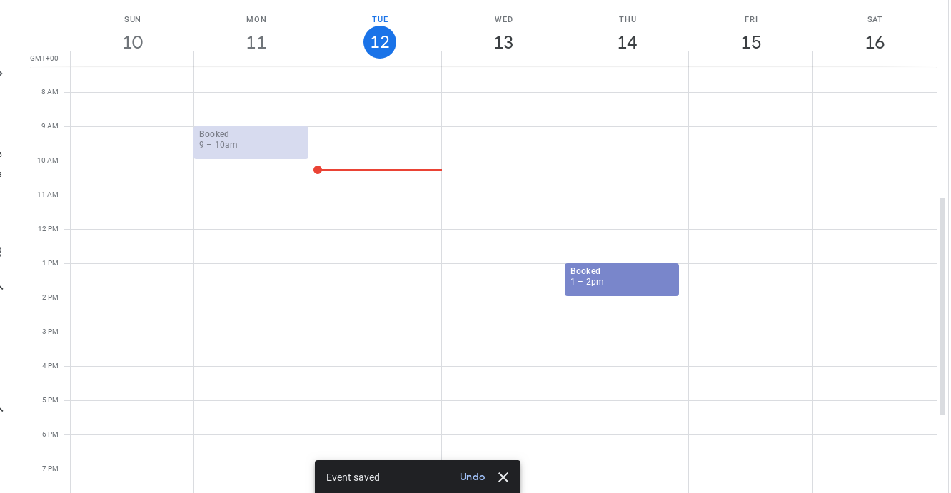 Google calendar caption