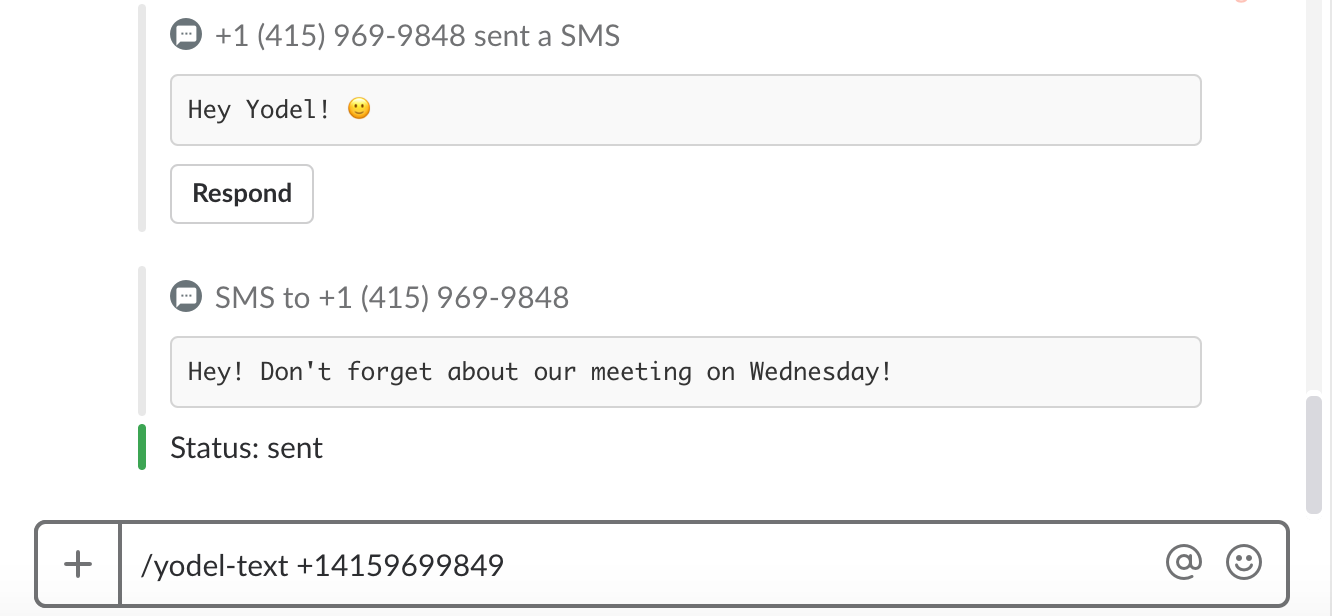 Yodel.io SMS Feature