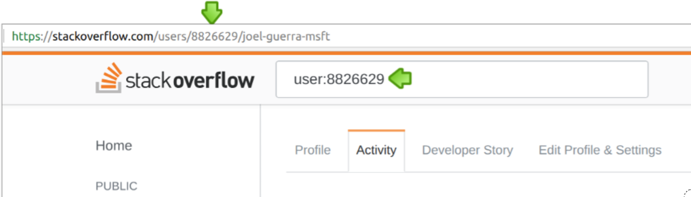 screenshot of Stack Overflow profile page