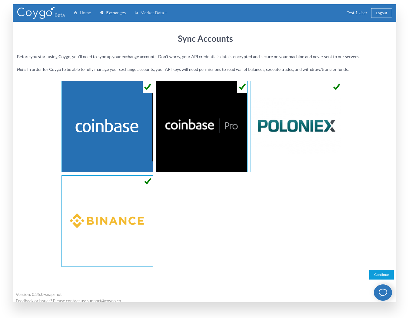 Sync Accounts redesign