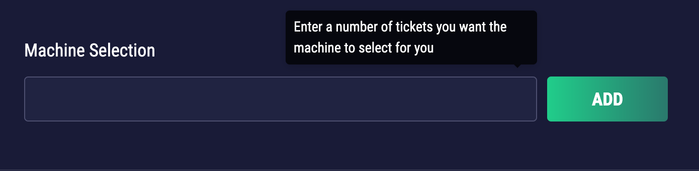 Random number ticket generator