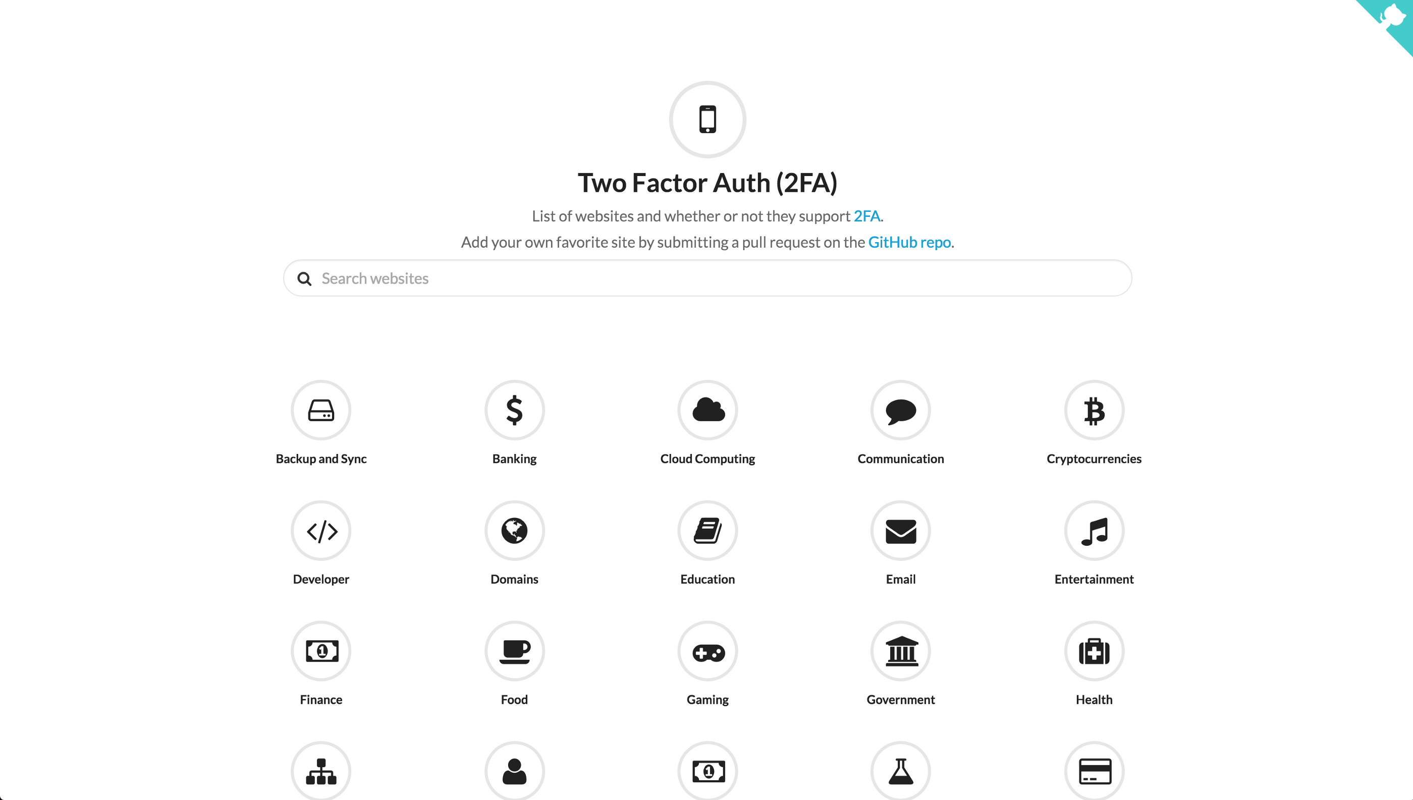 two factor auth website