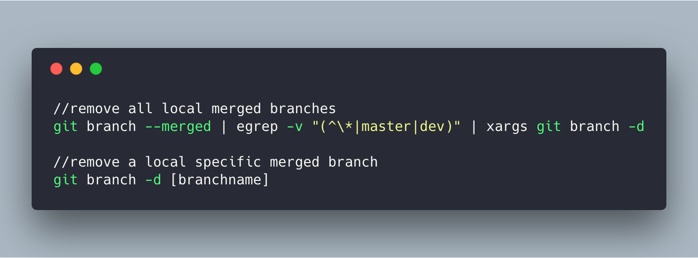 Search for a specific branch command