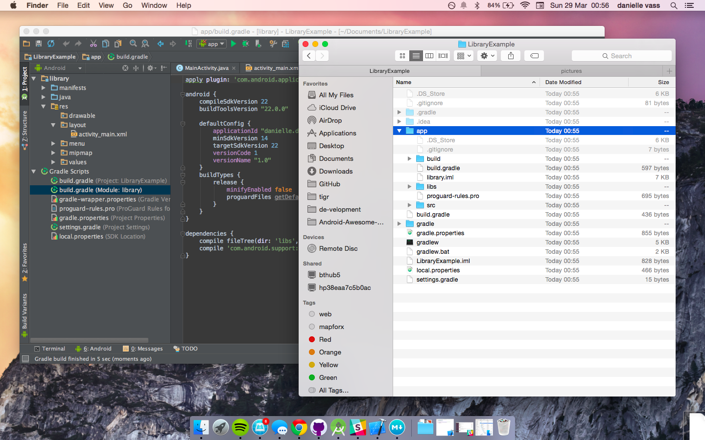 Android Studio calls my module library, but Finder still says app!