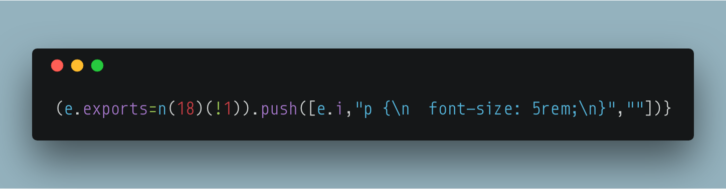 Inline styles in webpack output