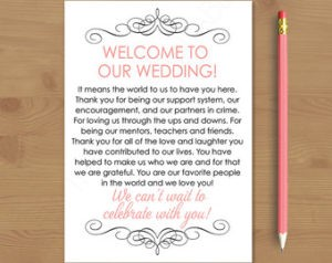 welcome note for guest