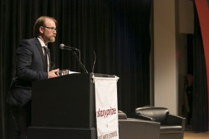 George Saunders accepting The Story Prize