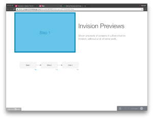 Previews and Flows using Invision and Sketch