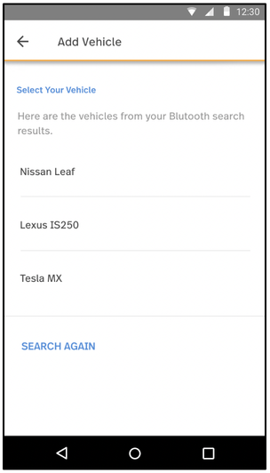 Select the BT vehicle
