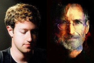 Mark Zuckerberg Steve Jobs