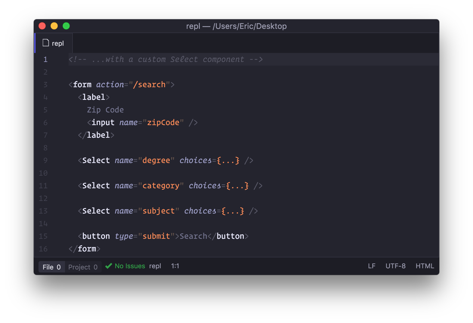 Introducing the <Select> component.