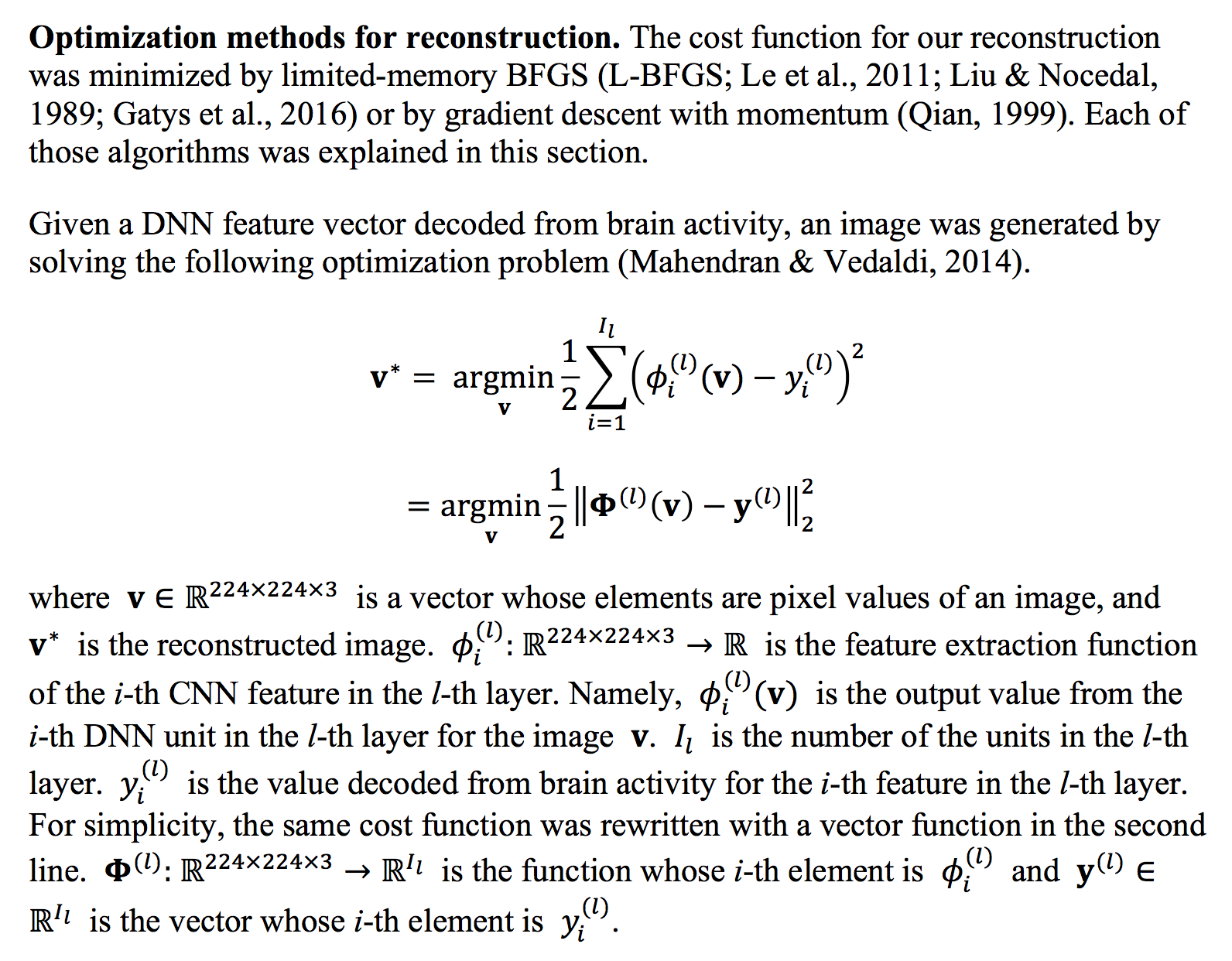 An excerpt from the paper on the generative process for finding the perceptual image. [Source](https://www.biorxiv.org/content/biorxiv/early/2017/12/30/240317.full.pdf)