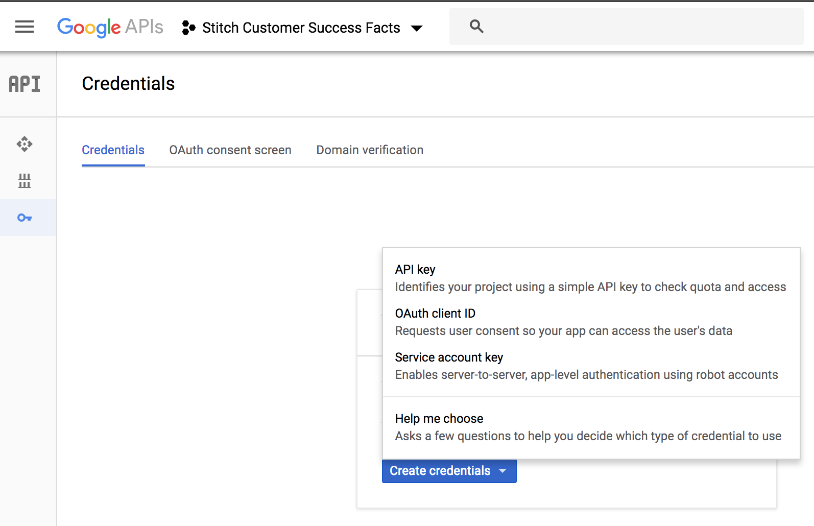 Select OAuth client ID > [Consent](https://console.developers.google.com/apis/credentials/consent) > Web application