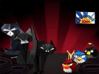 Origami Angry Cats Vs. Origami Angry Birds
