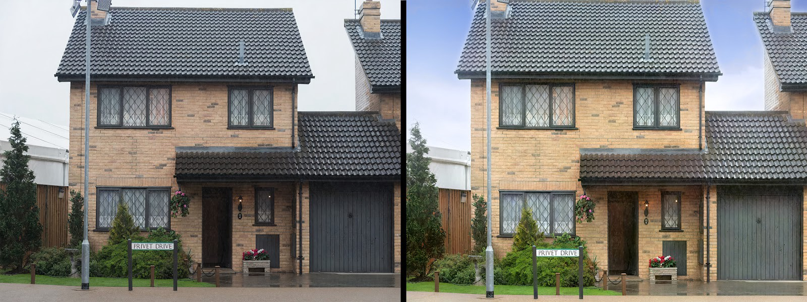 *Harry Potter's relations, the Dursley's house on Privet Drive sold for £290,000, but they could have netted an additional £6,000 with better photos. [Image enhanced by [Autoenhance.ai](http://autoenhance.ai).]*