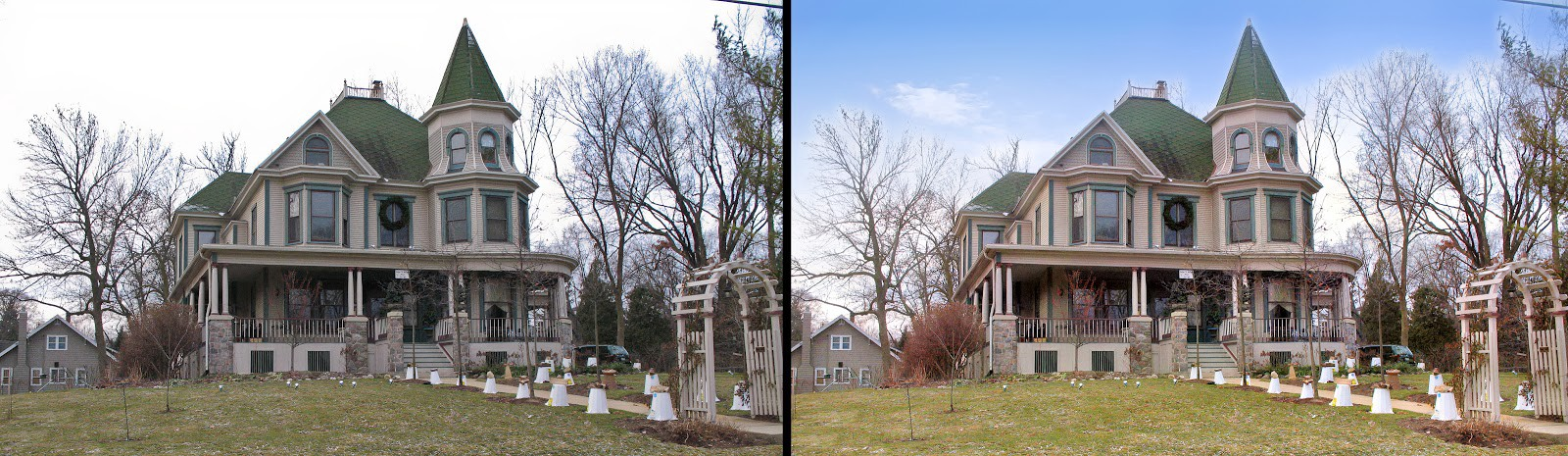 *If you think you've seen this B&B before, you're probably right. It features in the film *Groundhog Day*. By the way, two weeks ago the groundhog could see his shadow which means we are in for 6 more weeks of winter. [image enhanced by [Autoenhance.ai](http://autoenhance.ai)]*