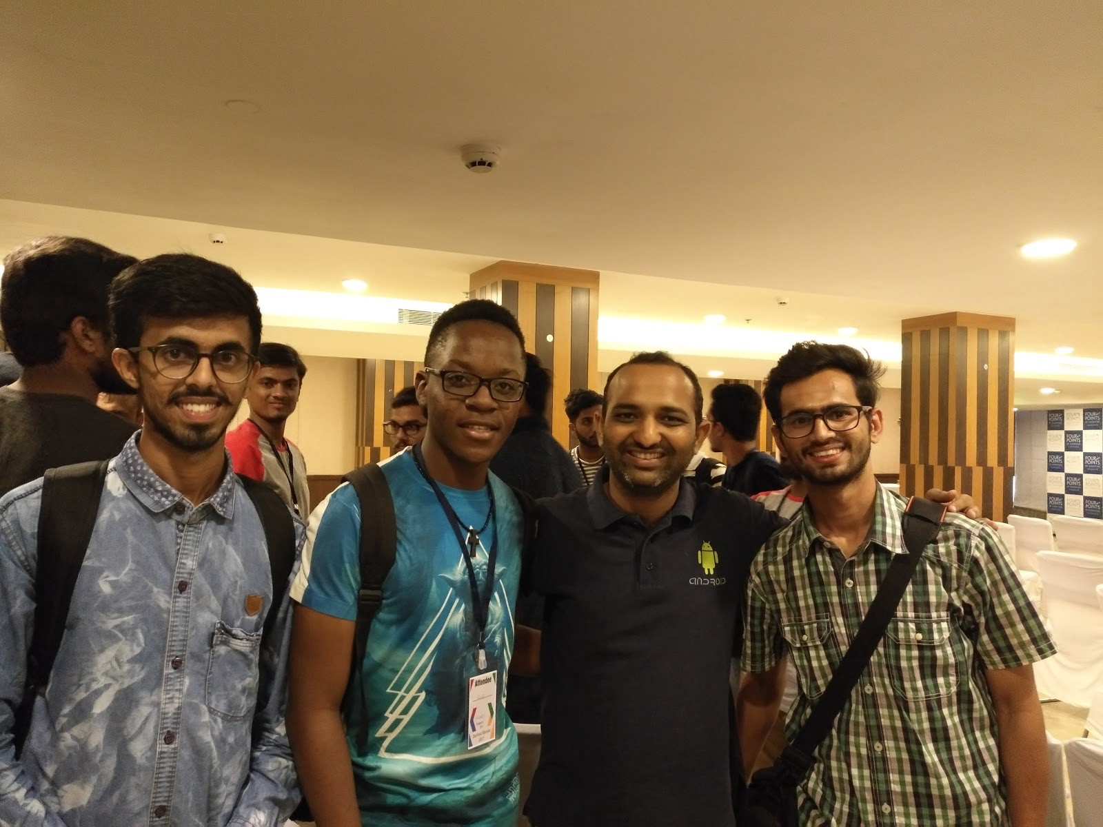 Some friends and I with the Google India Community Manager