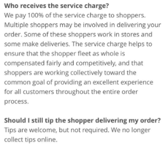 Instacart renames tips to service amounts keeps them essentially you can give instacart whatever you like for a service charge but it goes to the shopper fleet as part of the insultingly small flat fee thecheapjerseys Image collections