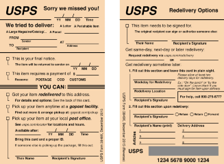 I Redesigned The Redesign Of The USPS Package Delivery Slip.