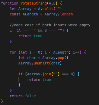 Rotate String: How to solve using the includes method