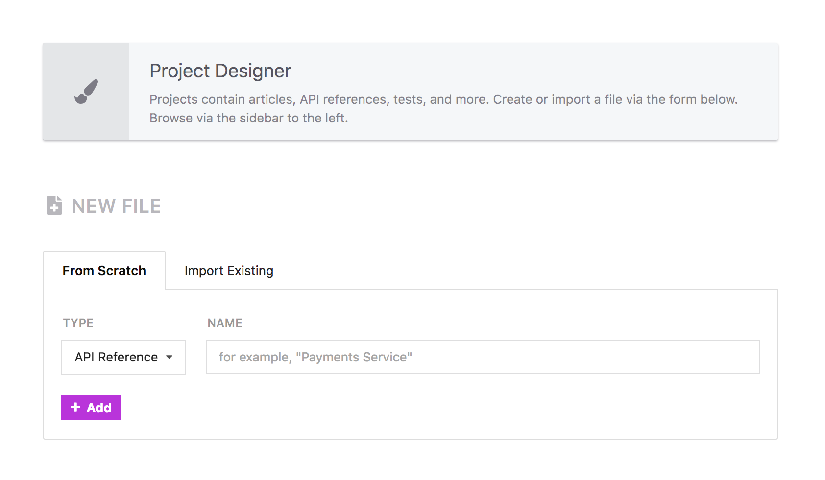 No longer need to copy and paste your specification files to import!
