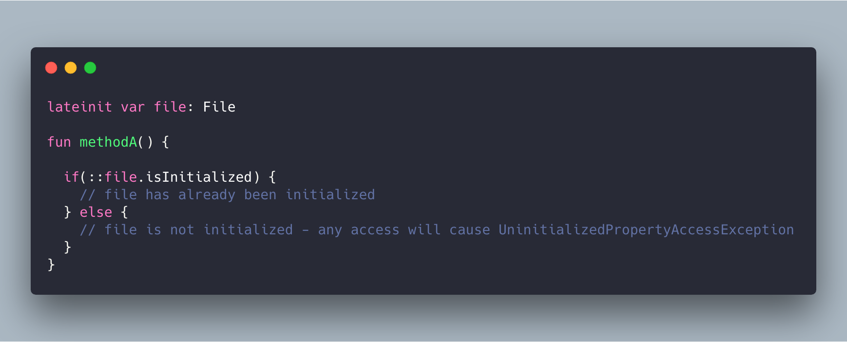 How to check if a property declared as lateinit is already initialized