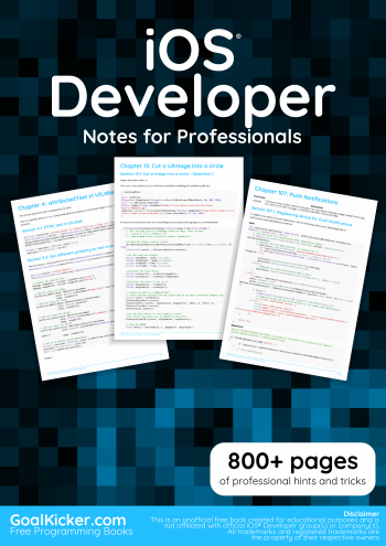 E book ios developer notes for professionals book download ios developers e book free by goalkicker fandeluxe Choice Image