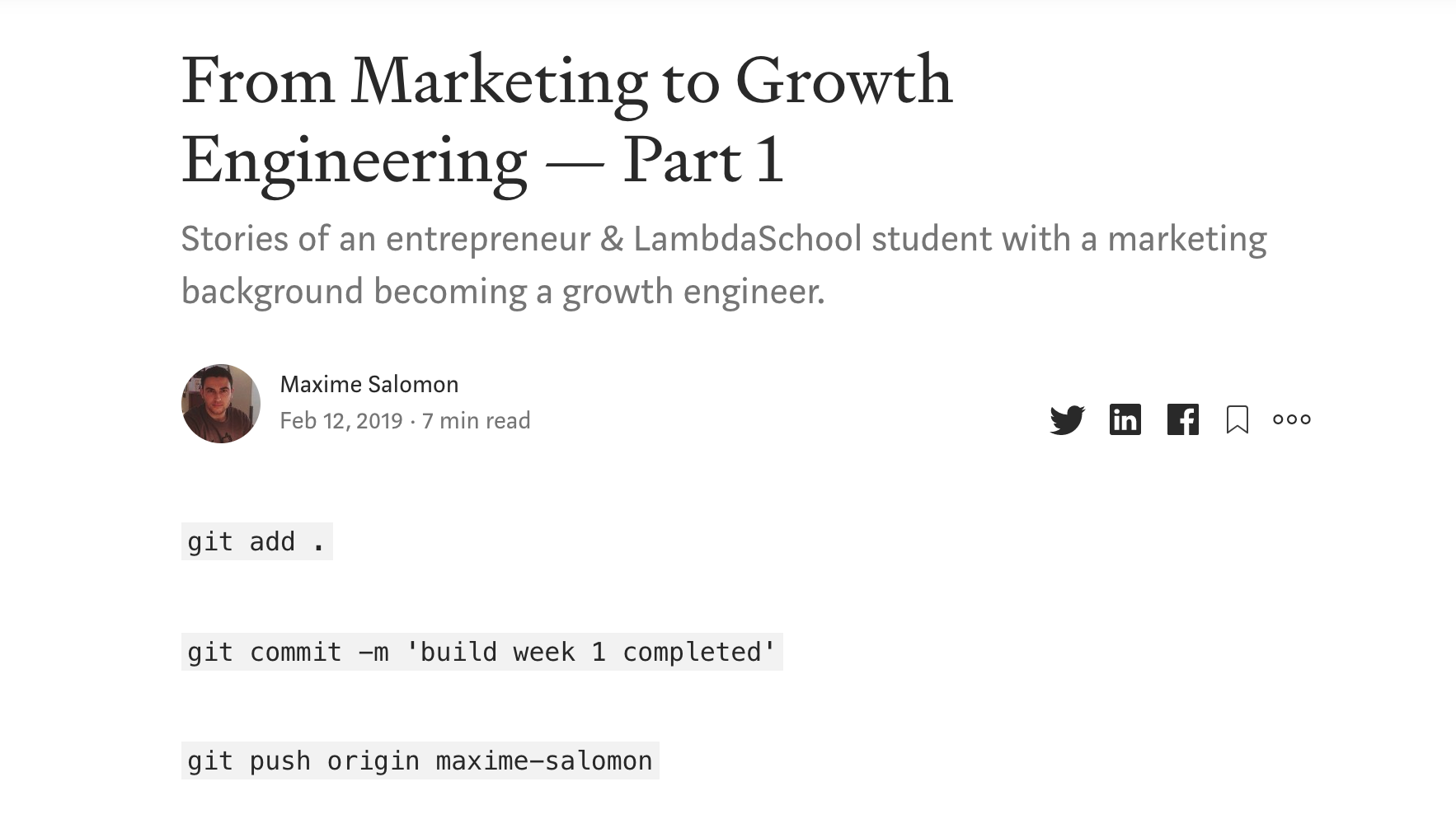 [From Marketing to Growth Engineering — Part 1](https://medium.com/@maximesalomon/from-marketing-to-growth-engineering-part-1-f9fea2bf8768)