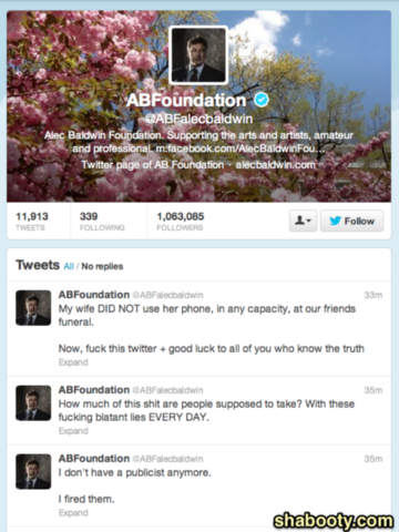 Alec Baldwin Goes thermonuclear on Twitter Then Deletes His Twitter Account Over False Story About Wife Tweeting During Gandalfini Funeral