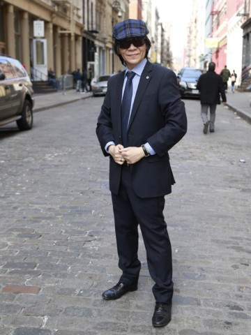 Artist Michael Lam poses on the street on April 16, 2015 in New York City.