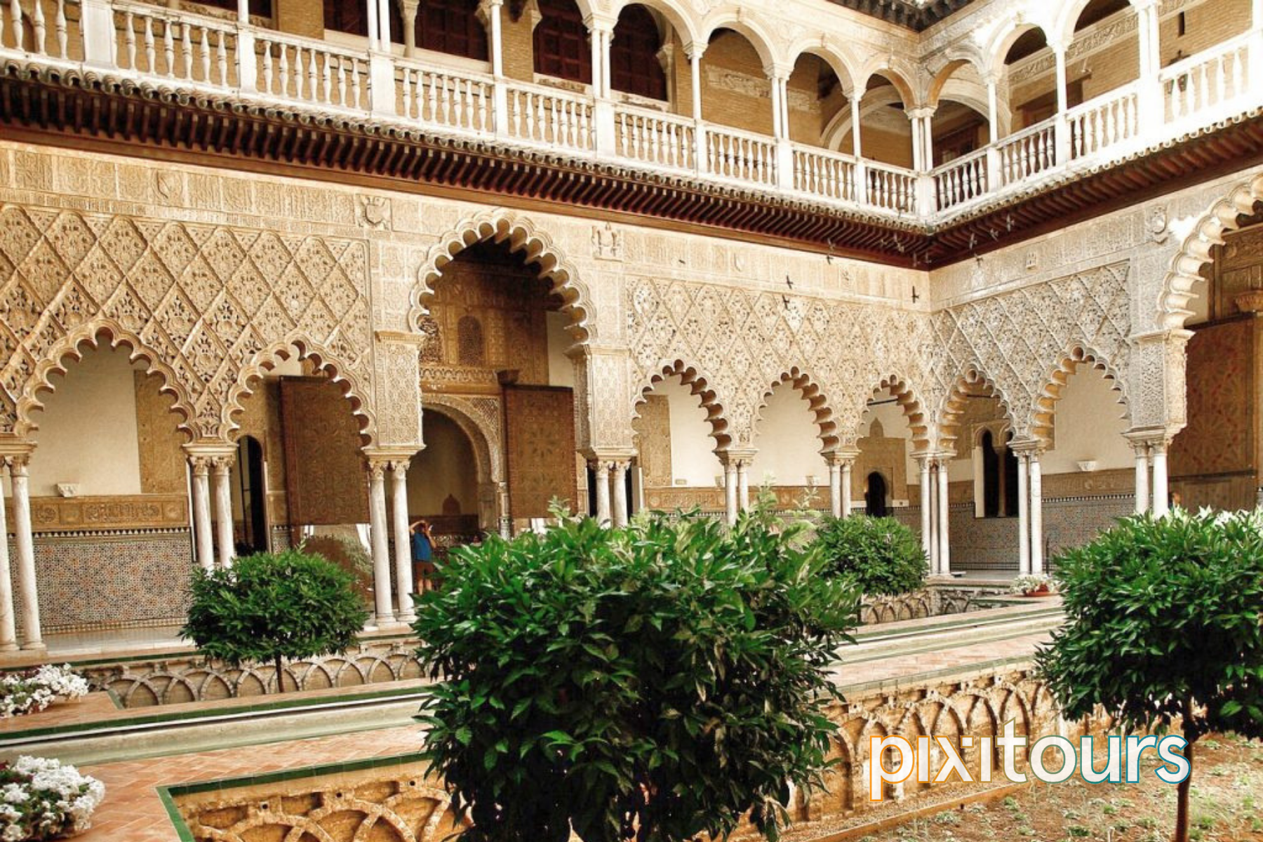 The inside view of the Alcazar Palace
