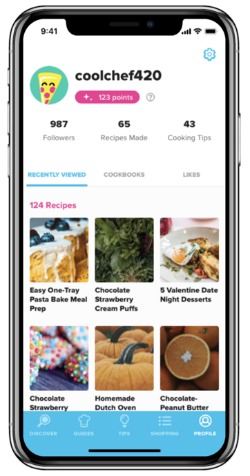 A screenshot of the Tasty App, showing an example of Tasty & Chill