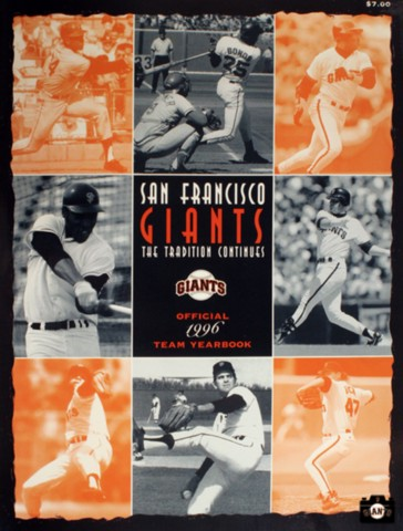 SAN FRANCISCO GIANTS, YEARBOOK, 1996