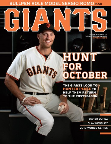 sf giants, san francisco giants, photo, 2012, giants magazine, hunter pence
