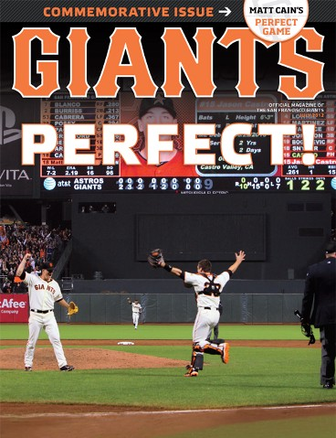 sf giants, san francisco giants, photo, 2012, matt cain, june 13, buster posey, perfect game