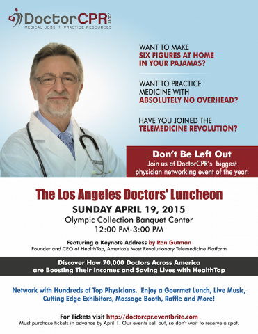 The Los Angeles Doctors' Luncheon--April 19 from 12-3   PM
