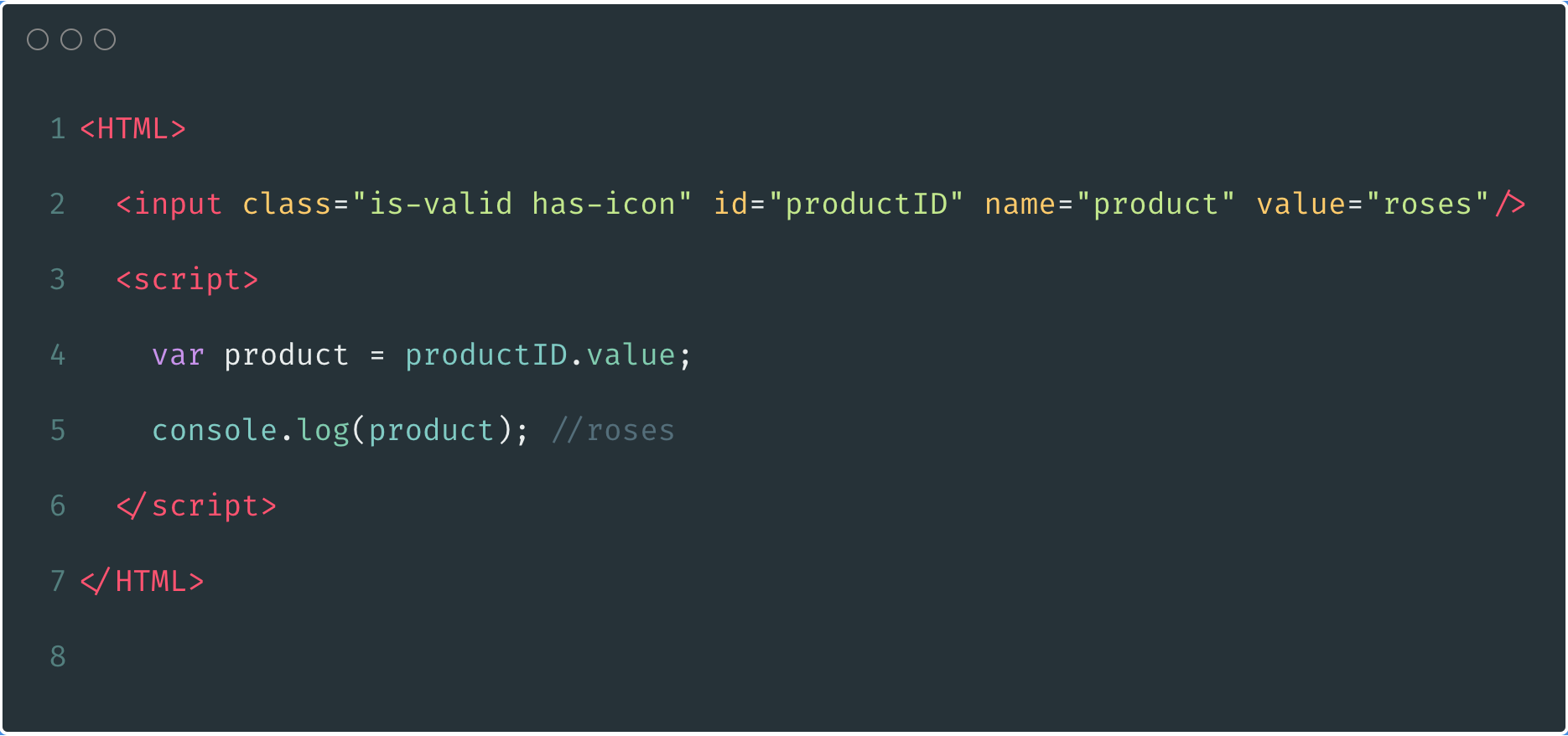 Accessing input values using Id variables